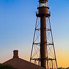 Sanibel Island Lighthouse Daybreak by Kenneth Keifer