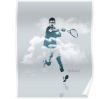 Djokovic in the Clouds Poster