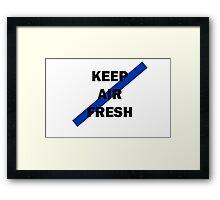 KEEP AIR FRESH TEE/CASE Framed Print