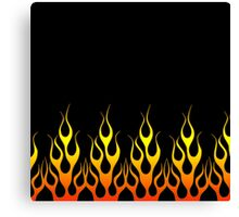 Black Flames Canvas Print