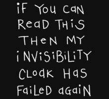 invisibility cloak - white text by Wendy Massey