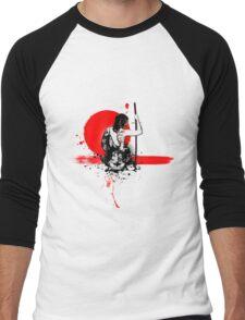 Trash Polka - Female Samurai Men's Baseball ¾ T-Shirt