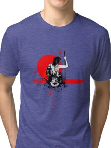 Trash Polka - Female Samurai Tri-blend T-Shirt