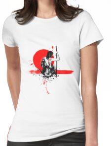 Trash Polka - Female Samurai Womens Fitted T-Shirt