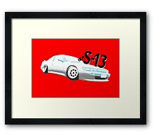 Classic Two Tone S13 - Halftone Framed Print