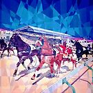 Horse Racing in Marsa - Malta by Joseph Barbara