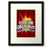 Captain Oblivious Framed Print