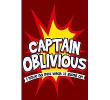 Captain Oblivious Photographic Print