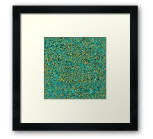 Azure Stone in Golden Lace Framed Print