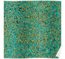 Azure Stone in Golden Lace Poster