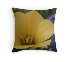 Deep Yellow Throw Pillow