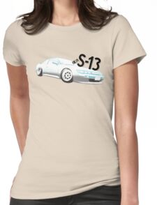 Classic Two Tone S13 - Halftone Womens Fitted T-Shirt