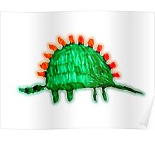 Dinosaur with spines (Max version)  Poster