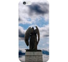 back view of angel statue in cobh iPhone Case/Skin