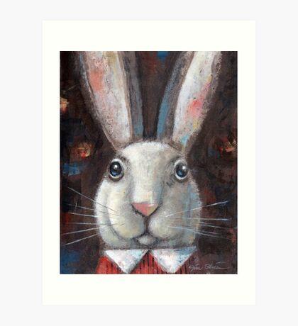 White Rabbit #3 Art Print