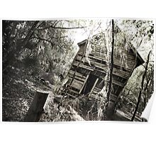 Old House in Black and White Poster