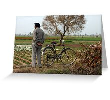 India Bike Greeting Card