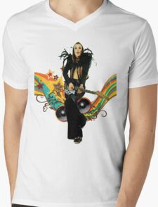 Brian Eno Roxy Music T-Shirt Mens V-Neck T-Shirt
