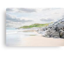 ballybunion beach beside the links golf course Canvas Print
