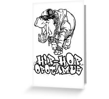 Hip Hop Opotamus Greeting Card