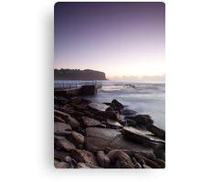Sunrise At Bilgola Beach Canvas Print