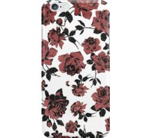 Distressed Vintage Red Roses iPhone Case/Skin