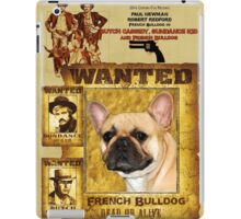 French Bulldog Art - Butch Cassidy and the Sundance Kid Movie Poster iPad Case/Skin