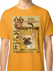 French Bulldog Art - Butch Cassidy and the Sundance Kid Movie Poster Classic T-Shirt