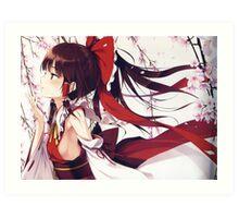 Reimu Cherry Blossoms print Art Print