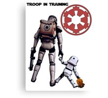 Troop in training  Canvas Print