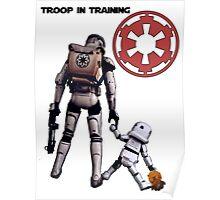 Troop in training  Poster