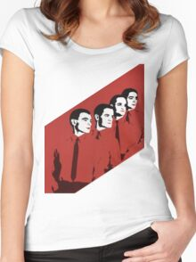 Kraftwerk Man Machine T-Shirt Women's Fitted Scoop T-Shirt