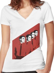 Kraftwerk Man Machine T-Shirt Women's Fitted V-Neck T-Shirt