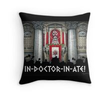Dalek Pope XVII Throw Pillow
