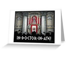Dalek Pope XVII Greeting Card