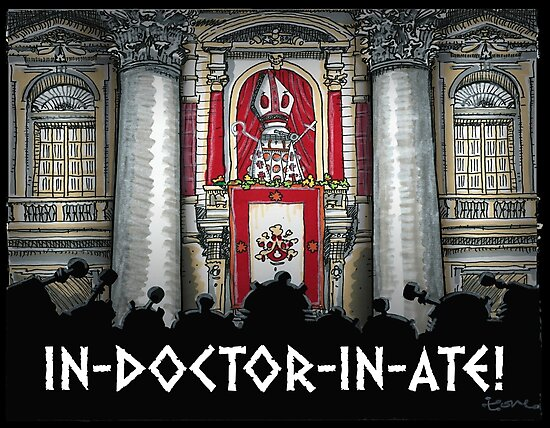 Dalek Pope XVII by ToneCartoons