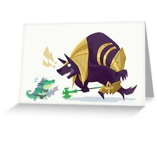 Renekton and Nasus fan art Greeting Card
