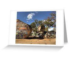 Sister Rocks, Stawell Greeting Card