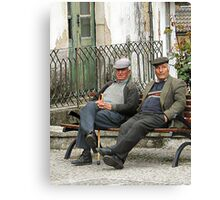 Old Friends --- A Disapproving Glance Canvas Print