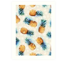 Pineapples + Crystals Art Print