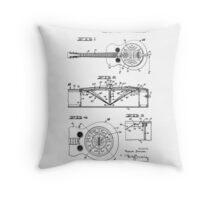 Resonator/Dobro Guitar Patent Drawing Design Throw Pillow