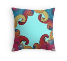 Color waves Throw Pillow