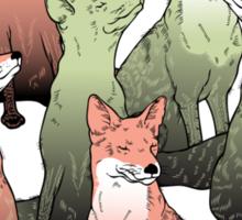 Sleeping foxes Sticker