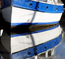 Blue and White Reflection - Seaport Marina, Launceston, Tasmania by Ruth Durose
