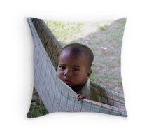 The tea garden nursery Throw Pillow