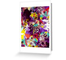 Colorful Geometric Flower Pattern Greeting Card