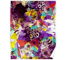 Colorful Geometric Flower Pattern Poster