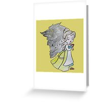 The Beauty and The Beast - Draw Greeting Card