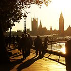 Sunset on the South Bank by Alison Simpson
