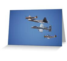 Air Show Greeting Card
